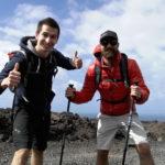 Io ed il mitico Supertramp durante un'escursione alle Canarie