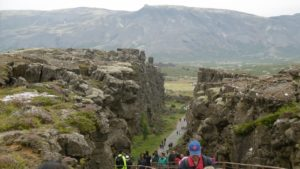 La frattura nel Parco nazionale Þingvellir