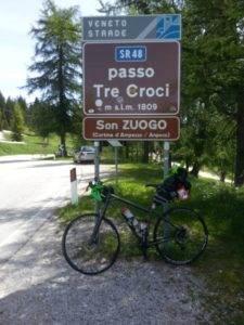 9° checkpoint - Passo Tre Croci 1.805 mt