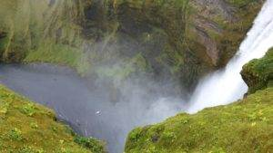 La cascata Skógafoss
