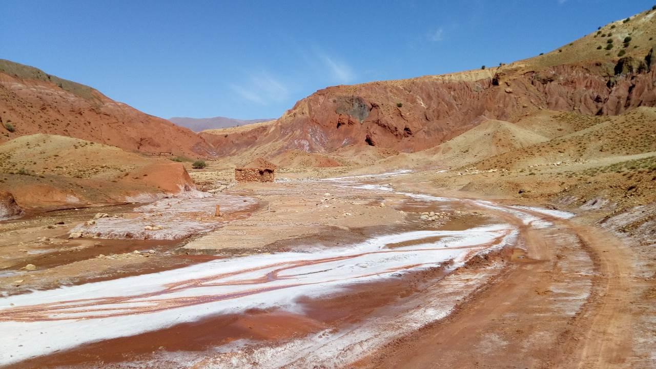La pista che porta alla miniera di sale